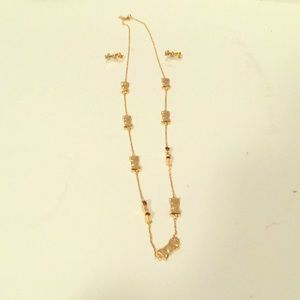 Kate Spade Bow Necklace and Earrings