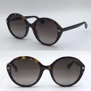 NWT Authentic Gucci Sunglasses GG 0023 Havana