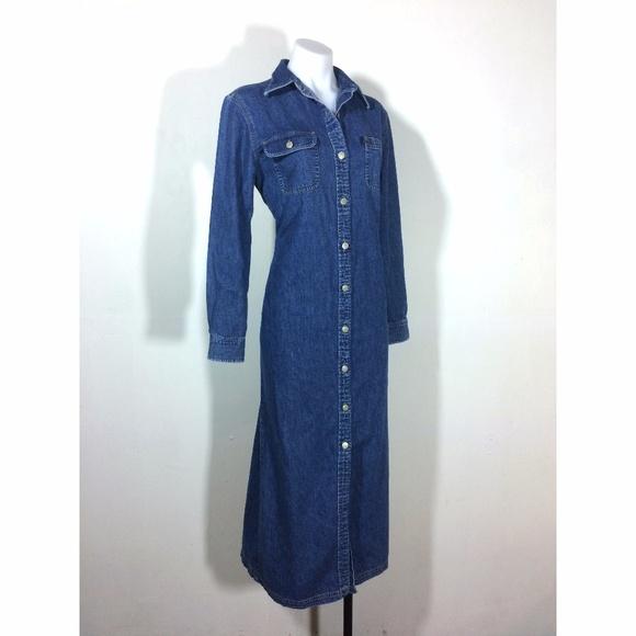 c7a8be99f10 ... jean maxi dress. M 5a121af7a88e7d846d0a4d12