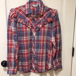 Tops - Vintage western style shirt