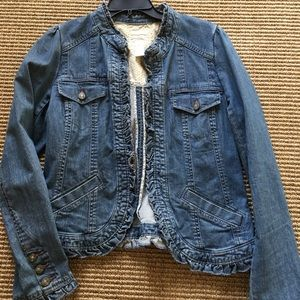 Jean Jacket with ruffles