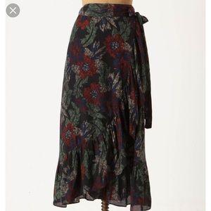 Maple Anthropologie understorey wrap skirt m