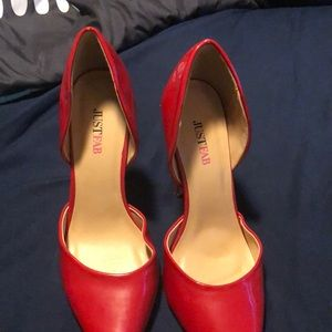 Bright red just fab heels