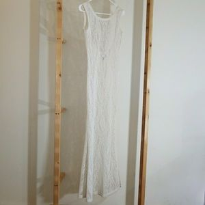 Dresses & Skirts - Lenni the Label white crochet lace maxi dress