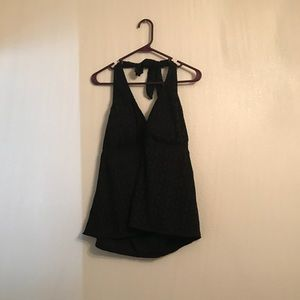 Catalina Black Crochet Halterkini Plus Size 3X