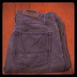 Men's grey stretch jeans
