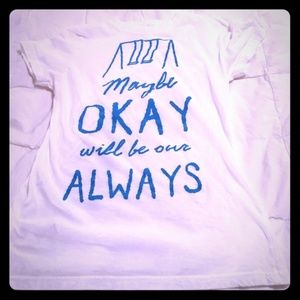 The Fault In Our Stars White/Turquoise T-Shirt