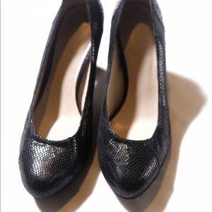 Naturalizer Black Snake Skin Heel