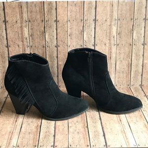 🛍 Bamboo Heel Booties Size 9