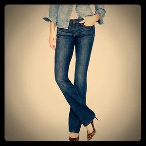 J Crew Women's Dark Wash Bootcut Jeans - Size 25S