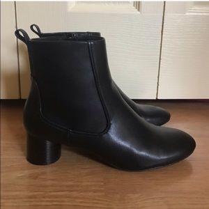 Zara cylinder low heel boots