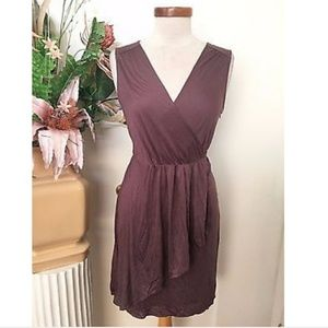 LOFT Dresses - Ann Taylor Loft knit sleeveless wrap dress medium
