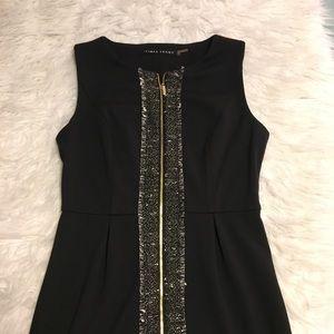 Ivanka trump black front zip dress