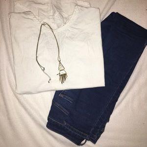 Zara Crisscross Detailed T-Shirt