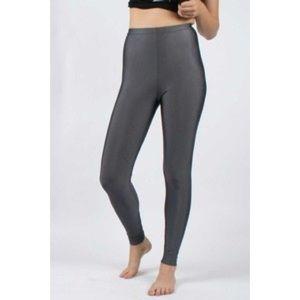 NWT American Apparel slate shiny leggings xs
