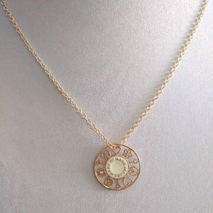 Marc By Marc Jacobs Cream & Gold Necklace
