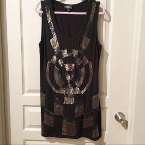 Adrianna Papell Evening knit dress w/ sequins