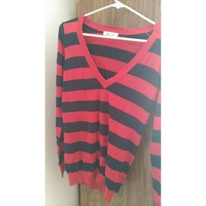 Forever21 Red/Navy Striped Shirt