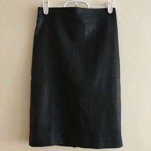 All Saints waxed leather skirt
