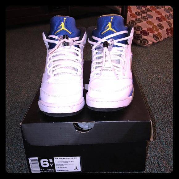 hot sale online 3f597 8855a 6.5 Retro 5 Jordan Kids Laney 5s blue yellow