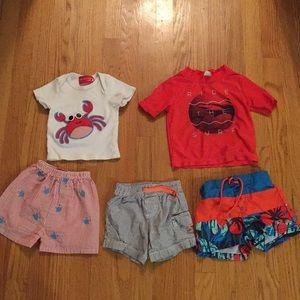 12 month baby boy shorts shirt bathing suit