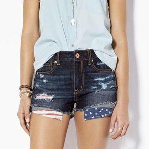 AEO American Flag Shorts Size 10