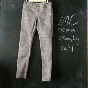 INC Skinny Leg Pants Snake Print Sz 4