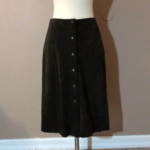 Banana Republic Brown Suede Skirt
