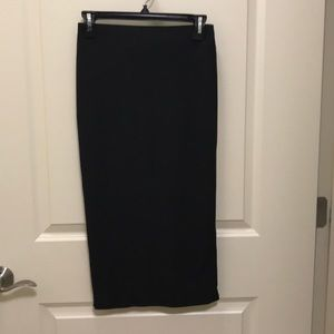 Black midi skirt. New no tags