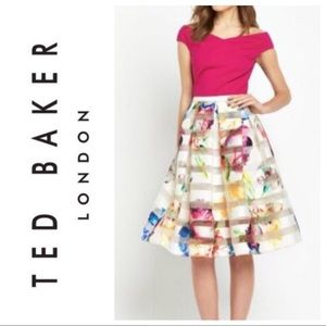 NWT! Ted Baker London Floral Skirt- Size 1
