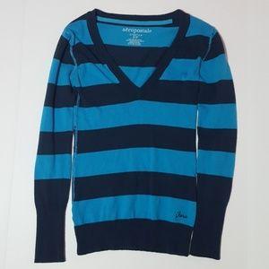SMALL Blue/Navy Stipped Shirt