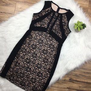 Ivanka Trump Sz 12 black lace cocktail dress