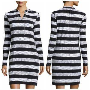 MICHAEL Michael Kors Python Stripe Jersey Dress