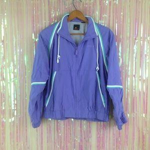 vtg 80s 90s pastel windbreaker jacket color block