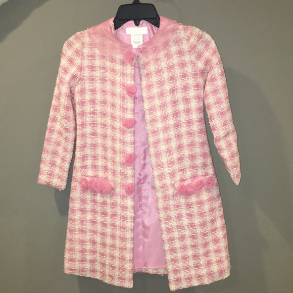 Biscotti Jackets & Coats - Kids Pink Trench coat