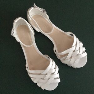 White Weave Sandals