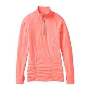 Athleta quarter zip in bright orange 🍊