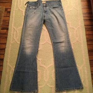 Sz 10 Long Abercrombie distressed Jeans