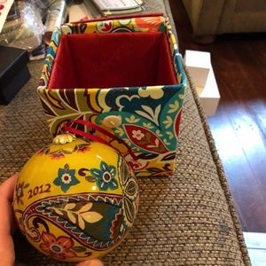 Vera Bradley Provencal Christmas Ornament and Box