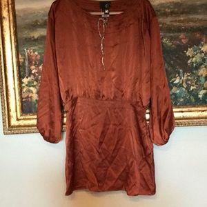 Roberto Cavalli rust color silk dress size 44