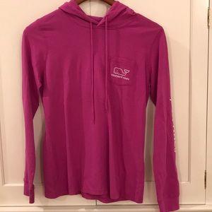 Vineyard Vines plum long sleeve hoodie