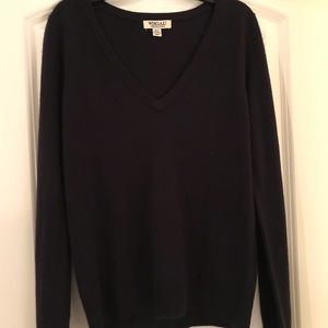 super soft navy sweater