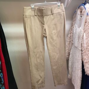 Tan ankle slacks pants stretchy waist