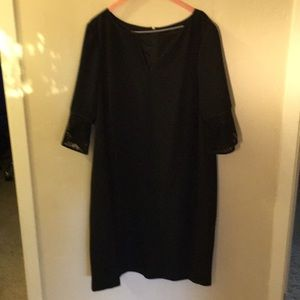 Adrianna papell structured black dress