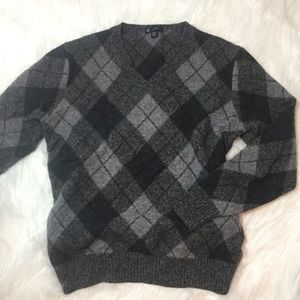 J. crew || Oversized Lambswool Argyle Sweater