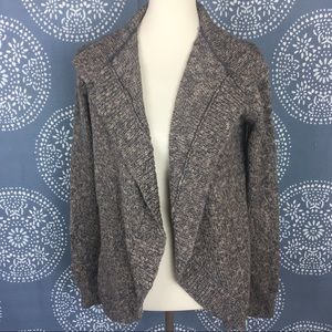 CAbi Marbled Gray Sweater Cardigan