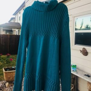 Coldwater Creek Teal sweater