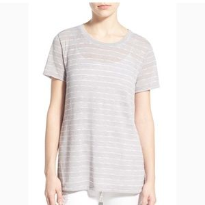 Lush Striped Sheer Tee