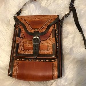 Authentic Genuine Leather Mexican Handbag