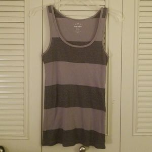 Old Navy grey and silver tank top